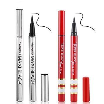 Pettstore Women Liquid Eyeliner, Long-lasting Waterproof Non-blooming Black Makeup Gel Eye Liner Pencil