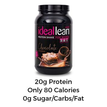 IdealLean, Protein Powder for Women, 20g Whey Protein Isolate, Calcium, Folic Acid, 30 Serving (Chocolate Brownie)