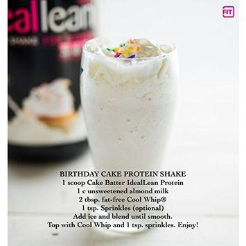 IdealLean, Protein Powder for Women, 20g Whey Protein Isolate, Calcium, Folic Acid, 30 Serving (Cake Batter)
