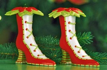 Patience Brewster Krinkles Patience Brewster Ceramic High Heel Salt and Pepper