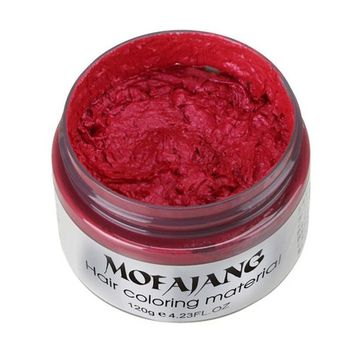 YWSiwa Temporary Hair Clay Wax Mud Cream Hair Ash Dye DIY, Red