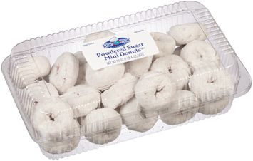 Blue Bird® Powdered Sugar Mini Donuts 27 ct Clamshell