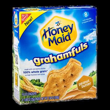 Nabisco Honey Maid Grahamfuls Filled Cracker Packs Peanut Butter