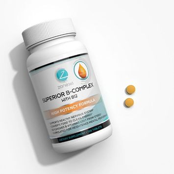 Zone - 365 Vitamin B12 Complex. Energy & Immune System Boosting Supplement. 3-Month Supply complete B Vitamin Supplement