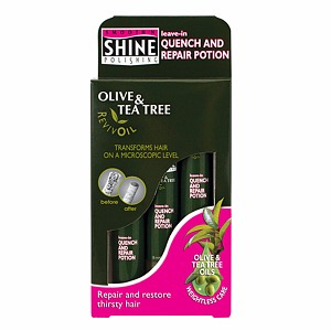 Smooth 'n Shine Polishing Olive & Tea Tree RevivOil Quench & Repair Potion 3 pk Vials