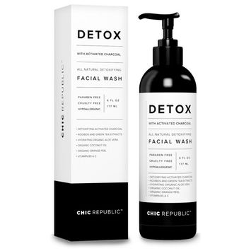 All Natural Activated Charcoal Facial Cleanser - Organic Daily Acne Skincare Face Exfoliating for Smooth Skin, Pore Minimizing, Best Anti Aging Skin Rejuvenation with Aloe Vera Gel, Coconut Oil