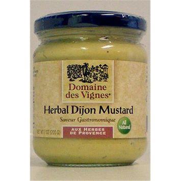 Domaine des Vignes 52004 7 oz. Herbal Dijon Mustard Pack of 6