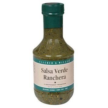 Fischer & Wieser Salsa Verde Ranchera, 17.5-Ounce Bottles (Pack of 6)