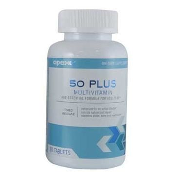 Apex Fitness Apex FIT Multivitamin 50 Plus, 23 Essential Vitamins and Minerals, 60 Tablet Bottle