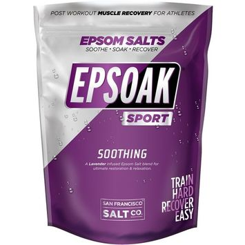Epsoak SPORT Epsom Salt for Athletes - 5 lbs. SOOTHING. All-natural, therapeutic soak with Lavender Essential Oil [Soothing (Lavender) - 5 lbs.]