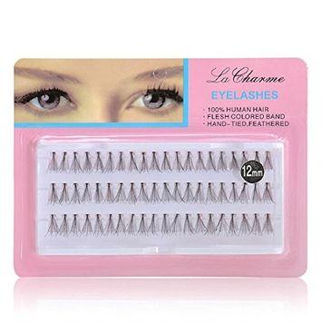 Polytree 60Pcs False Eyelashes Makeup Cluster Eye Lash Extensions