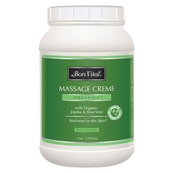 Bon Vital'' Organica Massage Crème Made with Certified Organic Ingredients for an Earth-Friendly & Relaxing Massage, 1 Gallon Jar [Organica]