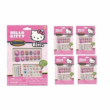 Hello Kitty 65 pcs Decorative Nail Art Nail Stickers and Gems x 4 packs