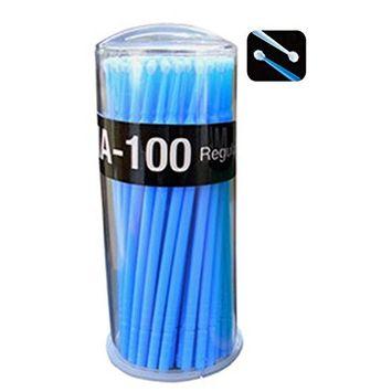 Polytree Eyelash Extension Lint Free Microbrush 100 Pcs - Blue