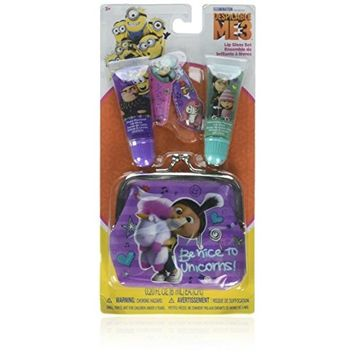 Despicable Me Townley Girl 3 Super Sparkly Beauty Set with Lip Tubes, Hair Clips and Coin Bag
