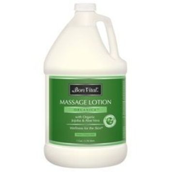 Bon Vital' Organica Massage Lotion Made with Certified Organic Ingredients for an Earth-Friendly & Relaxing Massage, Natural Moisturizer Perfect for Relaxing Back & Neck Massages, 8 Ounce Pump Bottle [Organica]