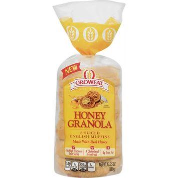 Oroweat Honey Granola English Muffin 6pack 13.75