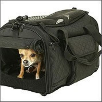 Snoozer Deluxe Rolling Pet Carrier, Black