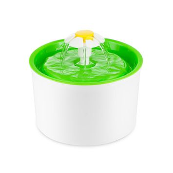 Automatic Pet Dog Cat Water Drinking Fountain Drinking Filter with US Plug(Green)