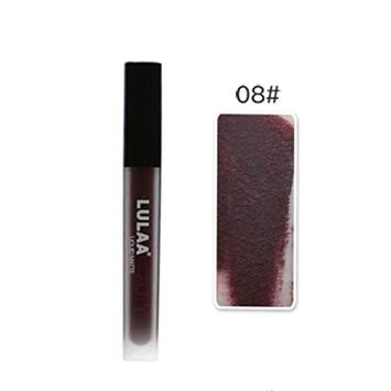 SEXYP Lulaa Waterproof Matte Liquid Lip Gloss Makeup Matte Long Lasting Lip Gloss