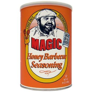 Chef Paul Honey Barbecue Rotisserie Seasoning Blend, 24-Ounce Canisters (Pack of 2)