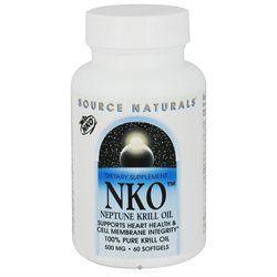 Source Naturals NKO Neptune Krill Oil - 500 mg - 60 Softgels