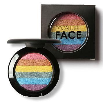 HUBEE New Rainbow Multicolor Pen Makeup Palette Blusher Flash Powder Eye Shadow Face Change