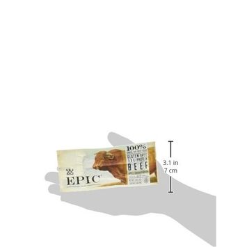 Epic All Natural Meat Bar, 100% Natural, Beef, Apple & Bacon, 1.5 ounce bar, 12 Count [Beef, Apple & Bacon]