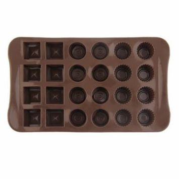 24 Holes Chocolate Molds for Chocolate & Solid Grids Chocolate Baking Mold