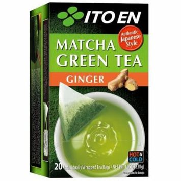 ITO EN Matcha Green Tea Tea Bags, Ginger, 20 Ct
