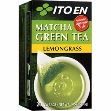 ITO EN Matcha Green Tea Tea Bags, Lemongrass, 20 Ct
