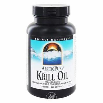 Source Naturals, Arctic Pure, Krill Oil, 500 mg, 120 Softgels, Pack of 2