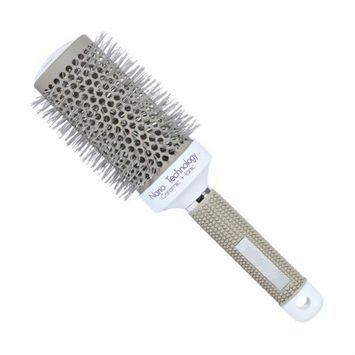 PaZinger Anti Static Nano Ionic & Thermic Ceramic Hair Brush,Barrel Hair Brush with Boar Bristle Round,2 inch