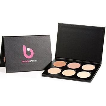 Highlighter Makeup Palette Glow Kit - 6 Shade Powder Highlight Face Pallet Make Up, Bronzer Contour Highlighting, Made in the USA, Paraben Free, Cruelty Free Paleta Resaltador