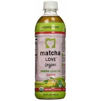 Ito En Matcha Love Organic Matcha and Green Tea, Ginger, 16.9 Ounce (Pack of 12)