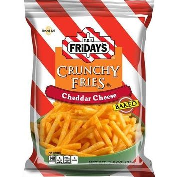 TGI Fridays Crunchy Cheddar Cheese Fry, 2.5 Ounce - 6 per case. [Crunchy Cheddar Fries]