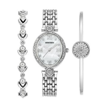 Armitron - Armitron Women's 3 pc. Silver-Tone Box Set