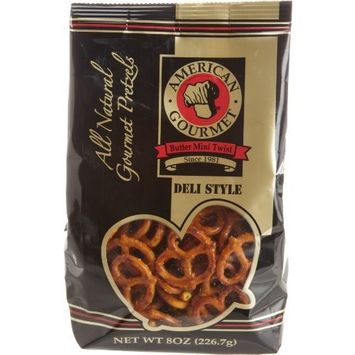 American Gourmet Mini Twist Pretzel, Buttered Flavored, 8-Ounce