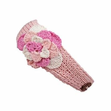 Headband With Tri-Color Flower