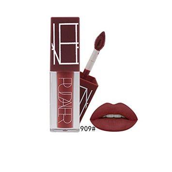 Molie Lipstick Liquid Velvet Matte Lip Gloss Lip Glaze Non-Fading Sexy Long Lasting Brick Red
