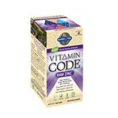 Garden Of Life Vitamin Code Raw Zinc, 60 Capsules (2 pack)