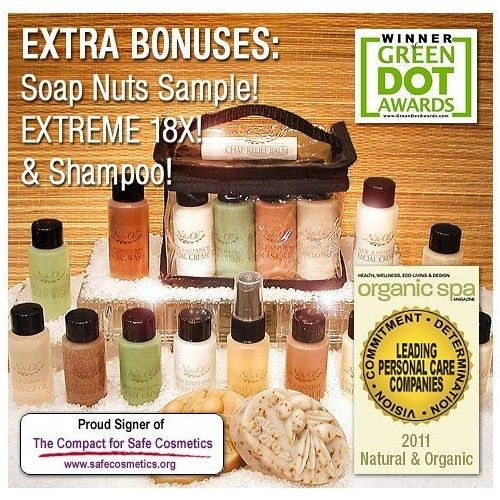 """NaturOli """"Ultimate"""" Mini / Trial Combo Set - From truly natural skin & hair care to organic laundry & household cleaning. Includes Soap Nuts / Soap Berry products. Now with FREE BONUSES!"""