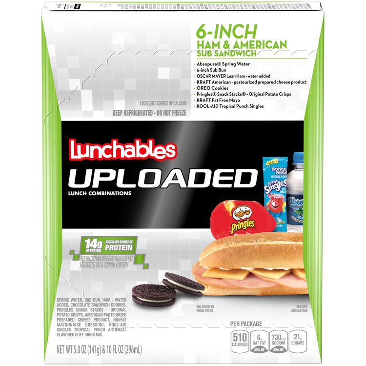 Lunchables Uploaded Ham & American Sub Convenience Meals