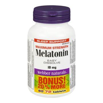 Webber Naturals Maximum Strength Melatonin Bonus Size