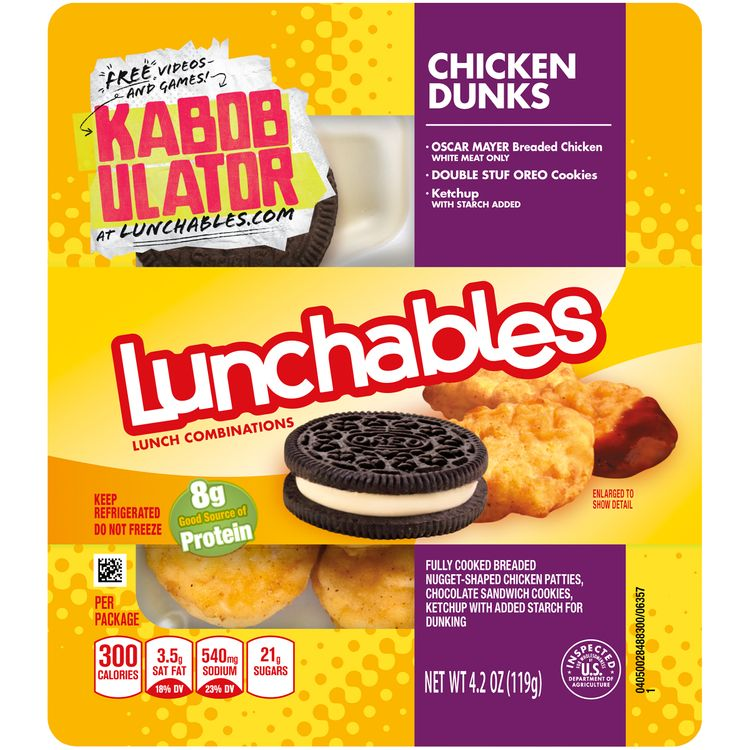 Lunchables Chicken Dunks Convenience Meal