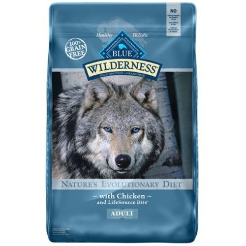 Blue Buffalo Wilderness High Protein Grain Free, Natural Adult Dry Dog Food, Chicken, 20-lb