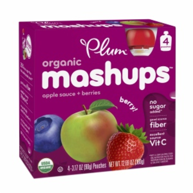 Plum Kids Organic Fruit Mashups Squeezeable Fruit