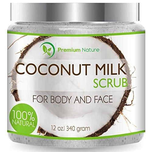 Coconut Milk Exfoliating Body Scrub Natural Coconut Oil Skin