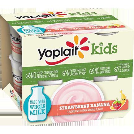 Yoplait® Kids Strawberry Banana Whole Milk Yogurt