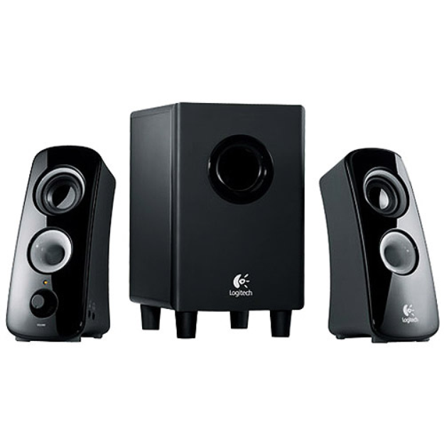Logitech Z323 Speaker System with Subwoofer - Black (980-000354)